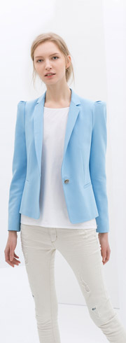 Zara Blazer with Gathered Shoulders