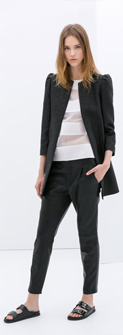 Zara Crewneck Coat