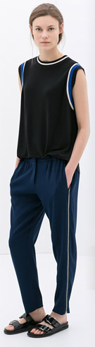 Zara Trousers with Side Zip