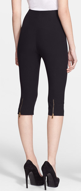 Alexander McQueen Zip Detail Pedal Pusher Pants