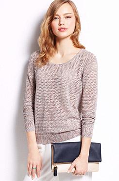 Ann Taylor Python Print Sweater