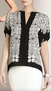 BCBG Ayana Oversized Scarf Shirt