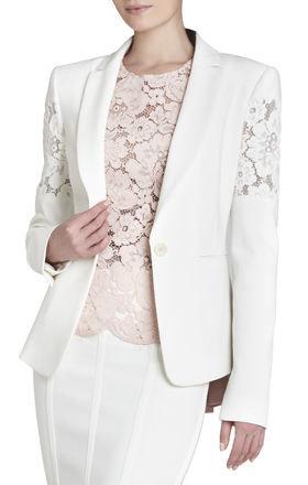 BCBGMaxazria Noah Floral-Lace Jacket