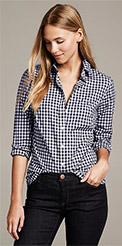 Banana Republic Fitted Non-Iron Gingham Shirt