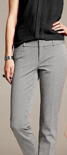 Banana Republic Sloan Fit Houndstooth Slim Ankle Pant