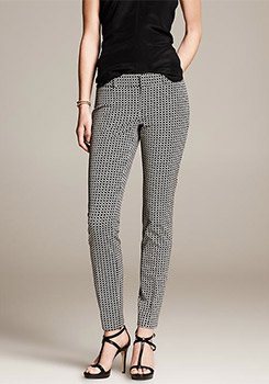 Banana Republic Sloan Fit Weave-Print-Slim Ankle Pant