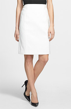 Classiques Entier Brigitte Cloque Detail Ponte Knit Skirt