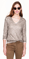 J.Crew Metallic V-Neck Sweater