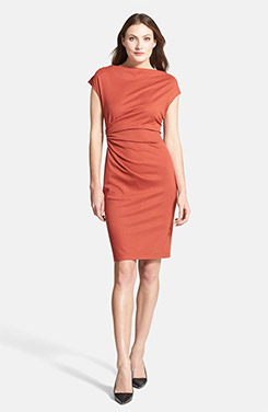 Lafayette 148 New York Drape Neck Ponte Dress