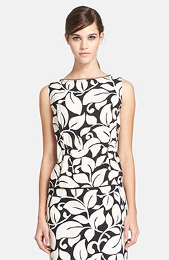 MARC JACOBS Contrast Back Floral Top