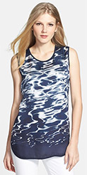 Vince Camuto Reflections Sleeveless Shirttail Blouse