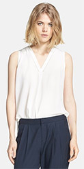 Vince Sleeveless V-Neck Top