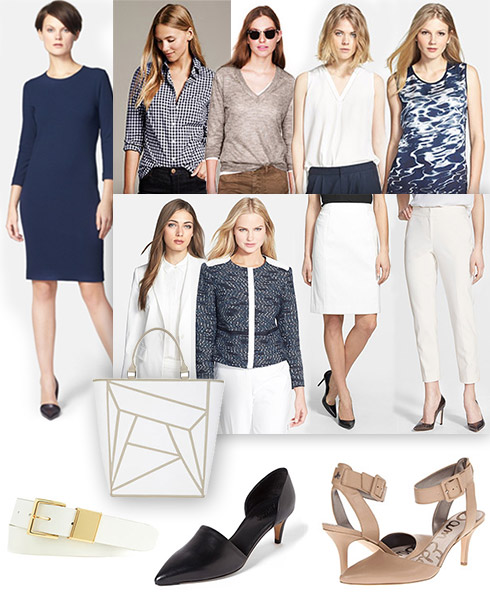 Business Casual Spring Capsule: Ink Blue & White