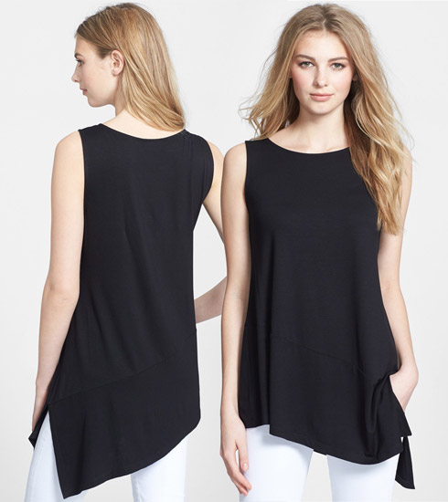 Eileen Fisher Bateau Neck Sleeveless Tunic