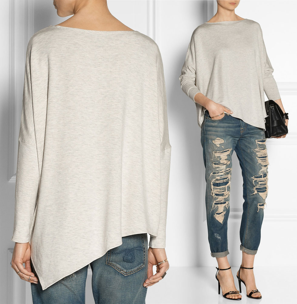 HELMUT LANG Asymmetric Fleece Top
