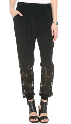 Rebecca Minkoff Hemmer Embroidered Pants