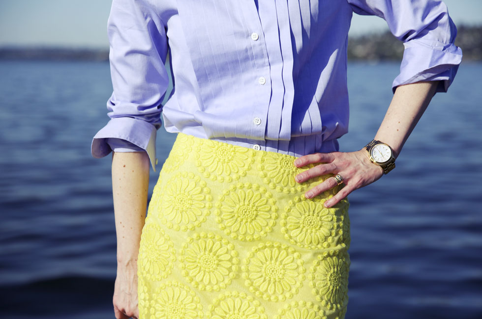 Summer Yellow - Skirt Closeup