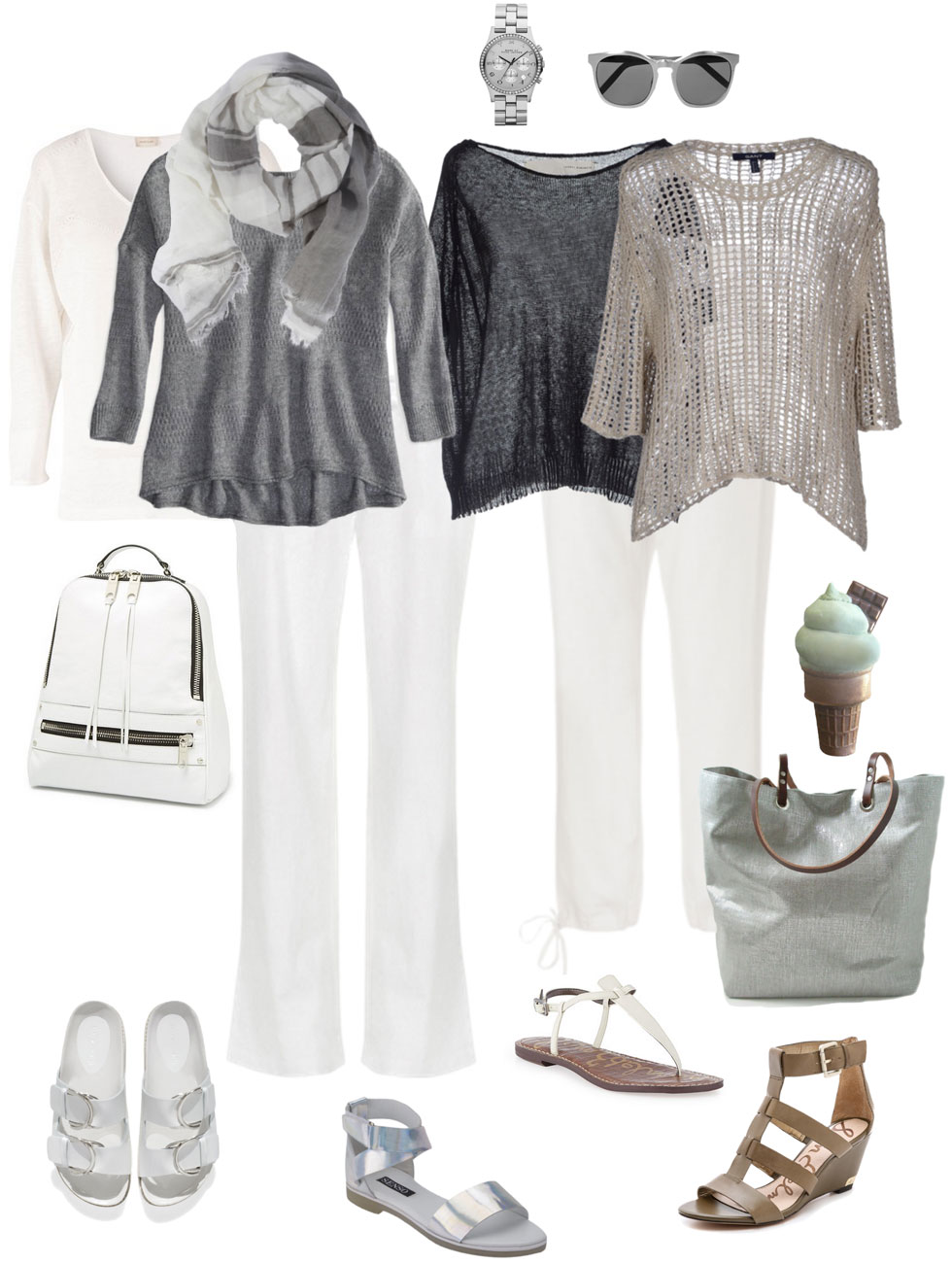 Casual Linen and Sandals