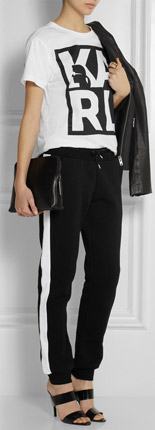 KARL LAGERFELD Taylor Cotton Jersey Track Pants