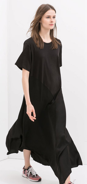 Zara Combined Maxi Dress
