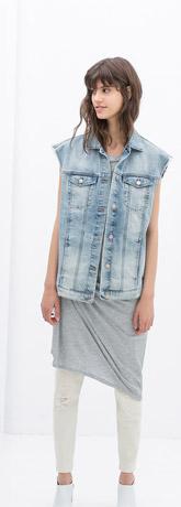 Zara Oversized Denim Vest