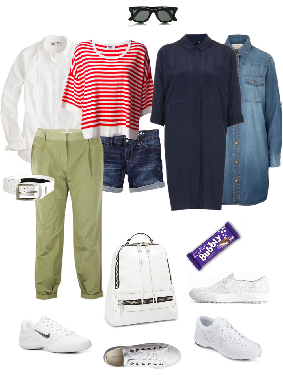 Casual Ensembles with White Sneakers