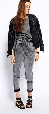 ASOS Farleigh High Waist Slim Mom Jeans