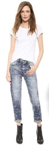 rag & bone The Marilyn High Rise Rigid Crop Jeans