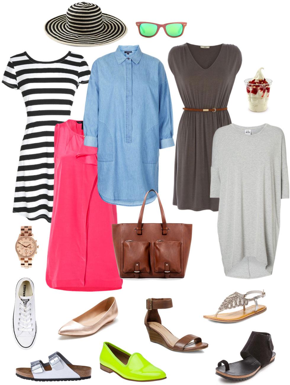 Summer Dress and Trendy Footwear