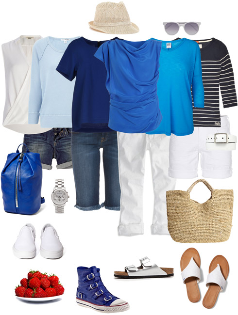 Ensemble Style Advice - Ultra Casual Blue & White
