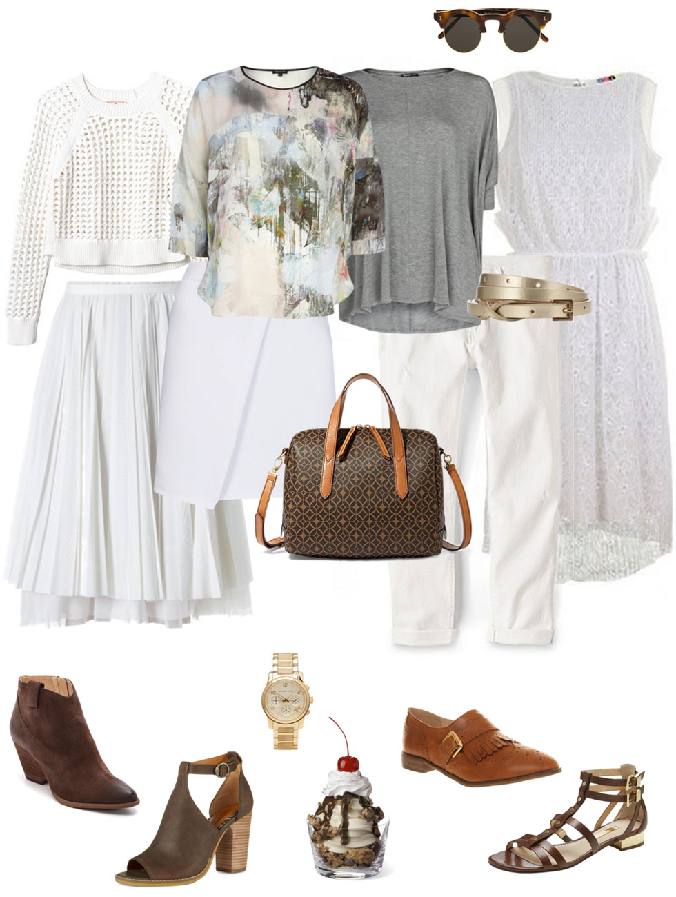 Summer White and Brown