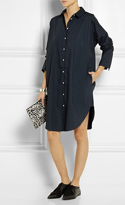 ACNE STUDIOS Lash Oversized Cotton Poplin Shirt Dress