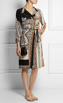 ETRO Printed Silk Shirt Dress