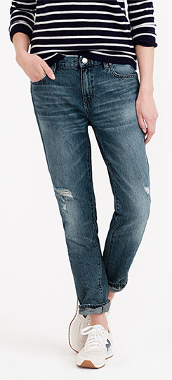 J.Crew Broken-in Boyfriend Jean in Colby Wash