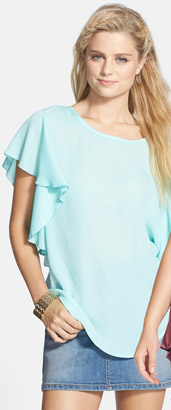 Liberty Love Side Ruffle Tee