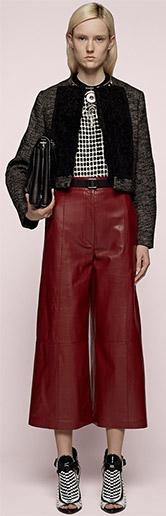 Proenza Schouler High Waist-Leather-Culottes