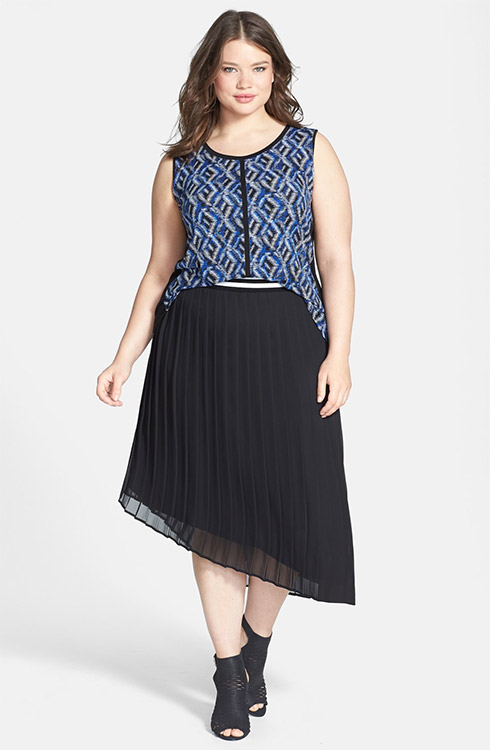Sejour Sleeveless Top & Pleated Midi Skirt