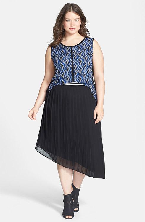 Sejour Sleeveless Top & Pleated Midi Skirt