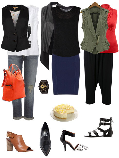 Ensemble Style Advice - Sleeveless Top with Vest