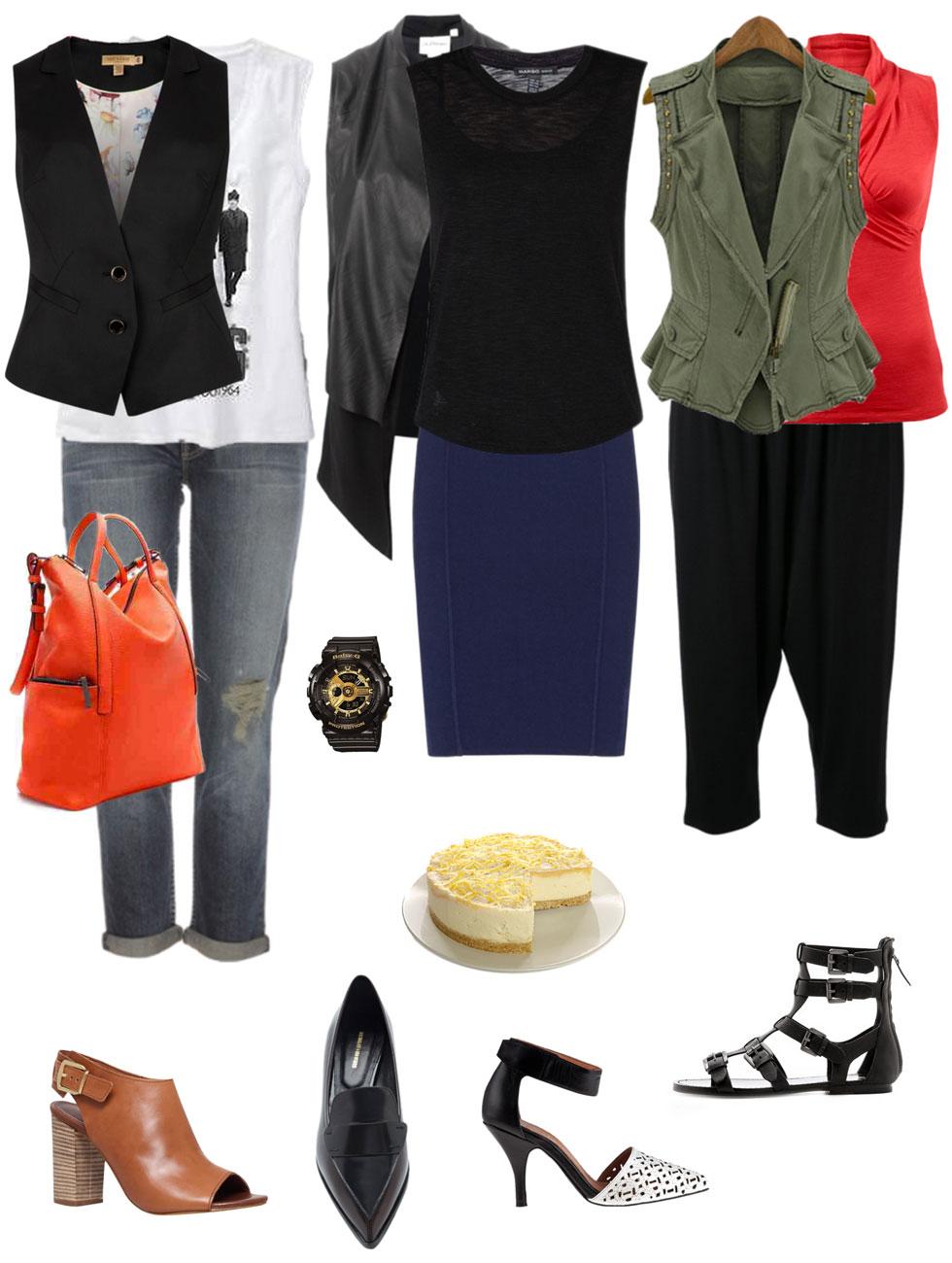 Ensemble: Sleeveless Top with Vest