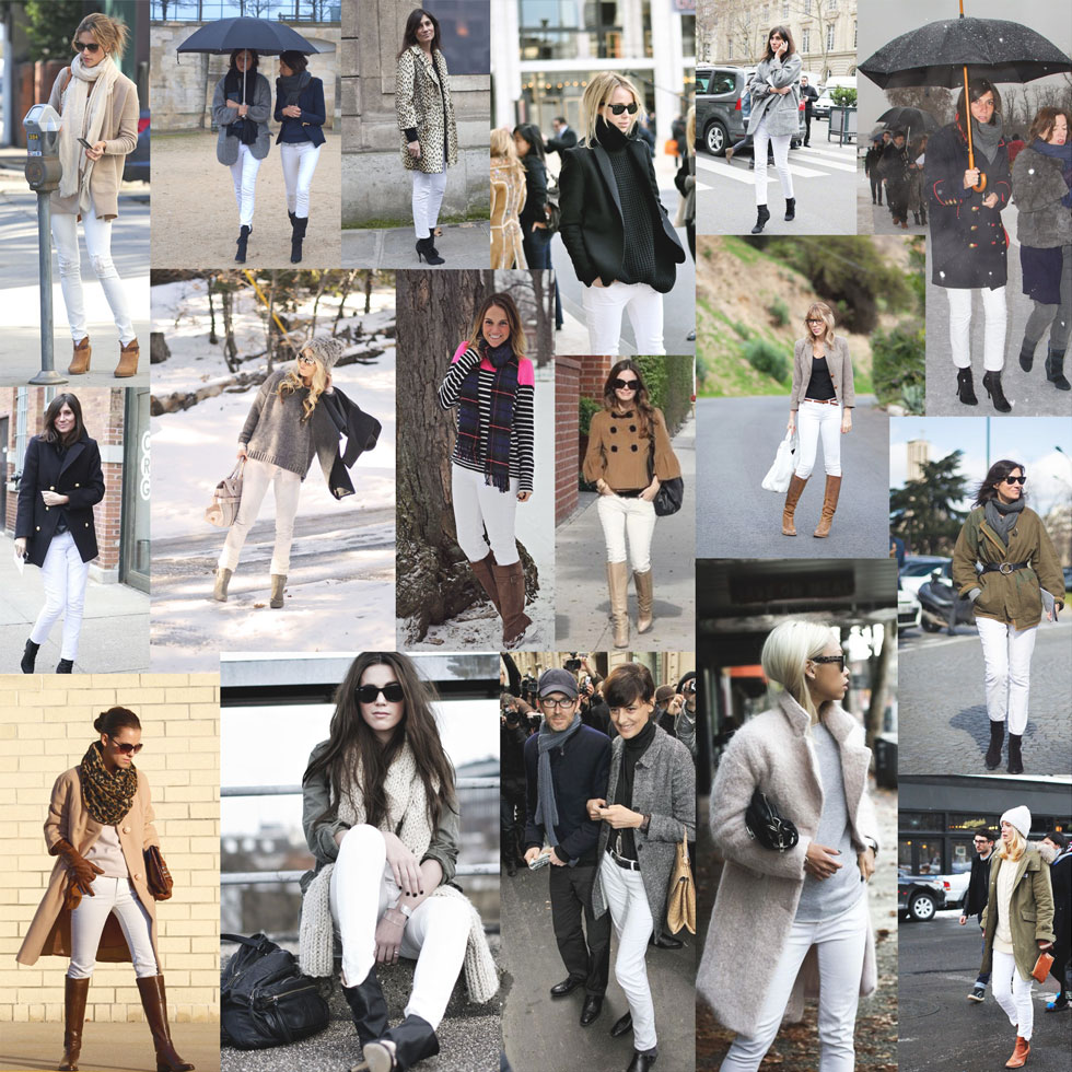 White Jeans in Fall and Winter
