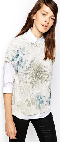 Esprit Soft Floral Sleeveless Sweater