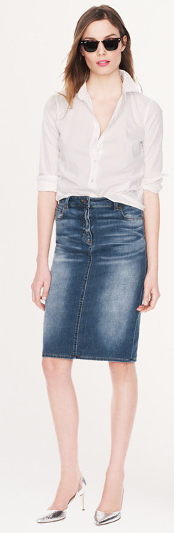 J.Crew Denim Pencil Skirt