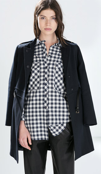 Zara Oversized Checked Shirt