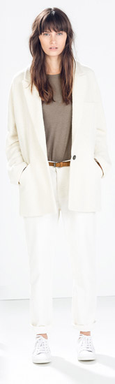 Zara Oversized Structured Three Quarter Length Coat