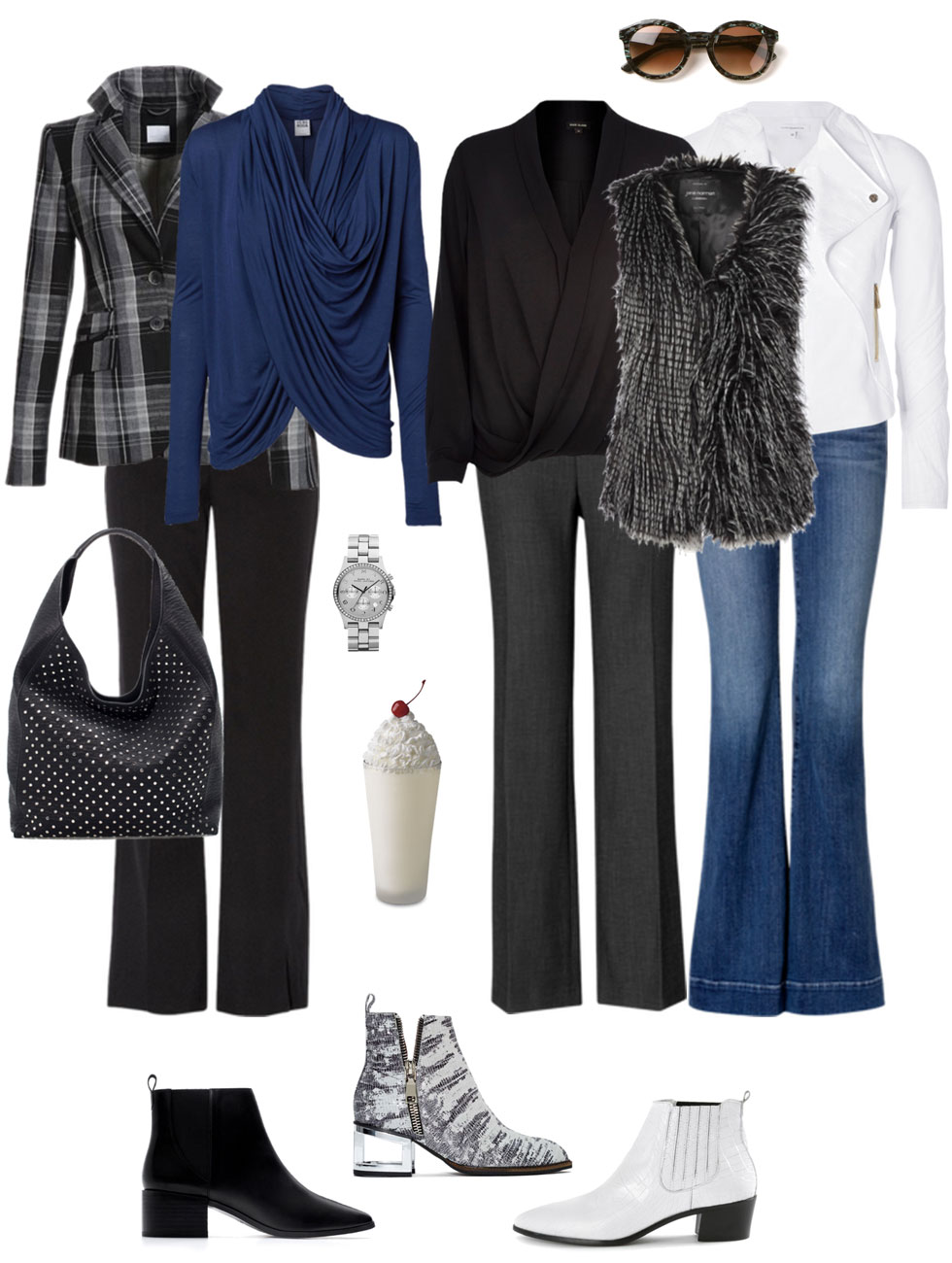Bootcuts, Wrap Blouse, Topper & Booties