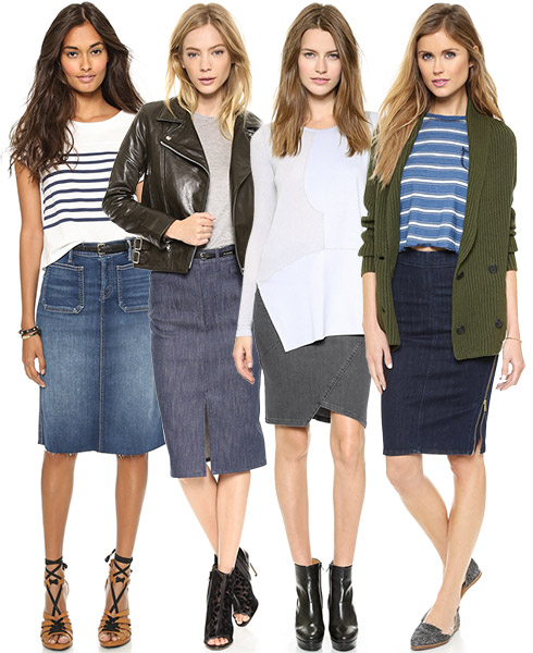 Fashion Trend - Denim Skirts Make a Fashionable Comeback