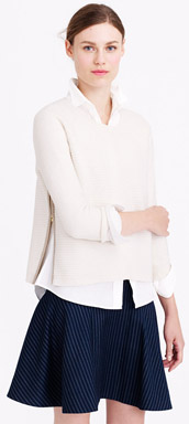 J.Crew Boiled Wool Zip Sweater