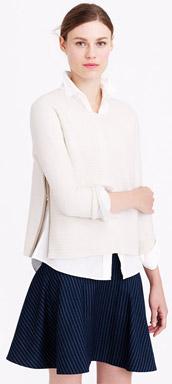 J.Crew Boiled Wool Zip Sweater