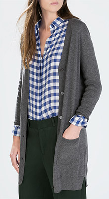 Zara Long Cardigan with Pockets